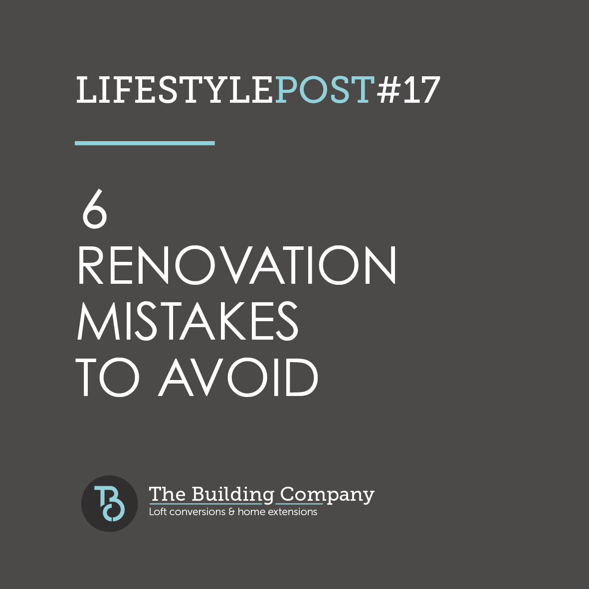 6 mistakes to avoid when renovating your home