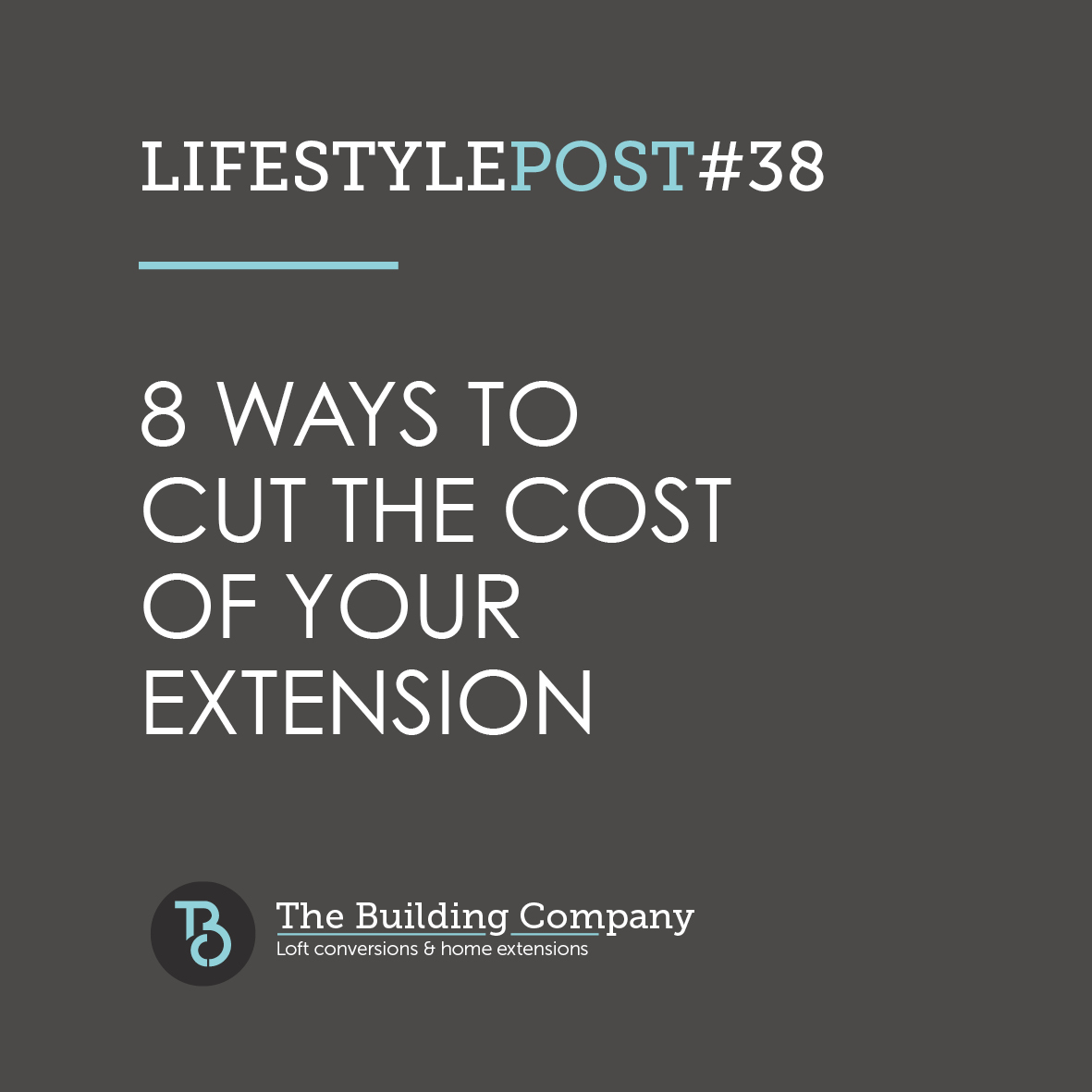 8 ways to cut the cost of your extension in East Finchley graphic